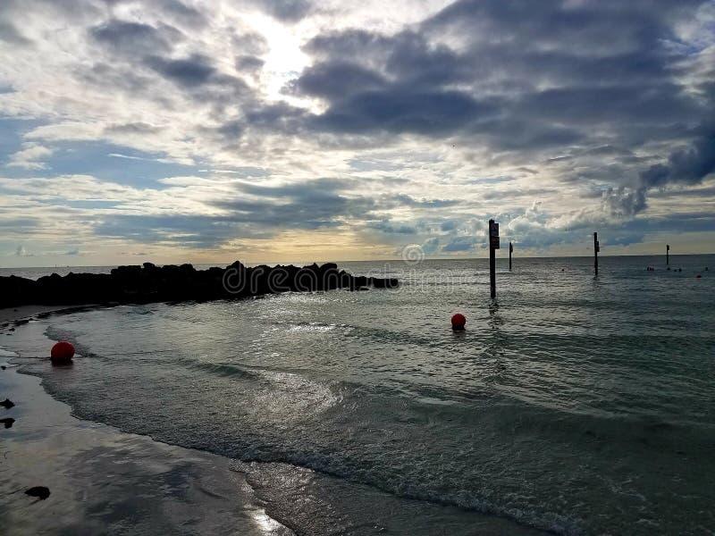 Calm. Sunset, beach, ocean, sky stock photography