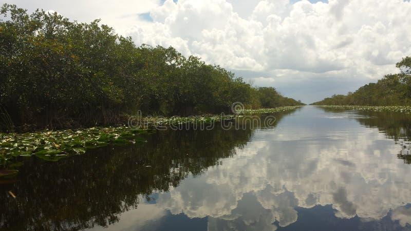 Calm Canal. Canal calm at Everglades National park stock photos