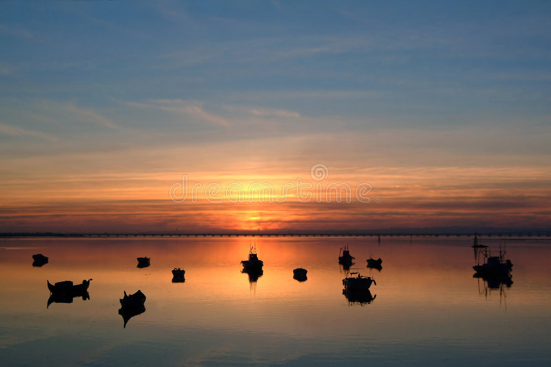 Calm day. At sunset royalty free stock photos