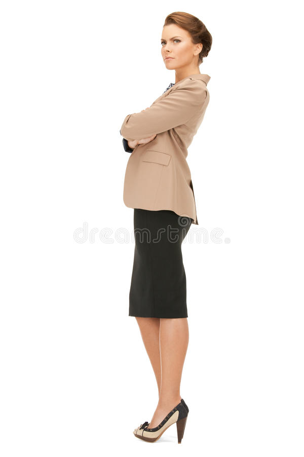 Calm and friendly woman. Bright picture of calm and friendly woman stock photos