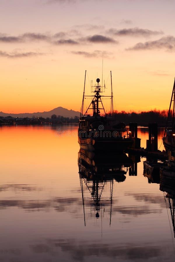 Calm Harbor Morning, Steveston royalty free stock photography