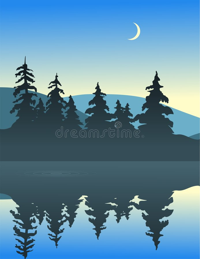 Calm Lake vector illustration