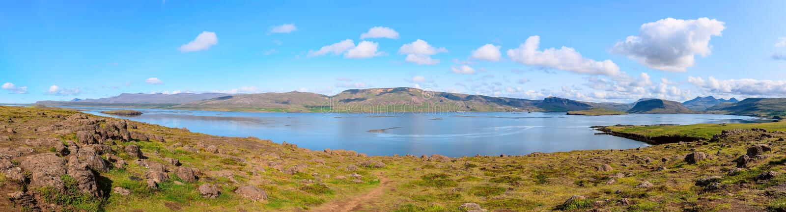 Calm lake in iceland landscape royalty free stock photos