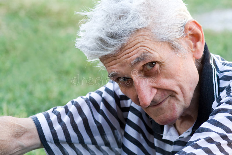 calm man outdoor portrait senior serene στοκ εικόνες