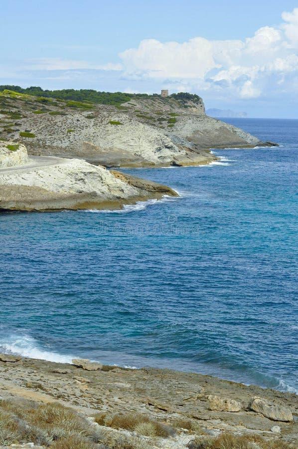 The calm mediterranean sea. Look over the mediterranean sea stock image