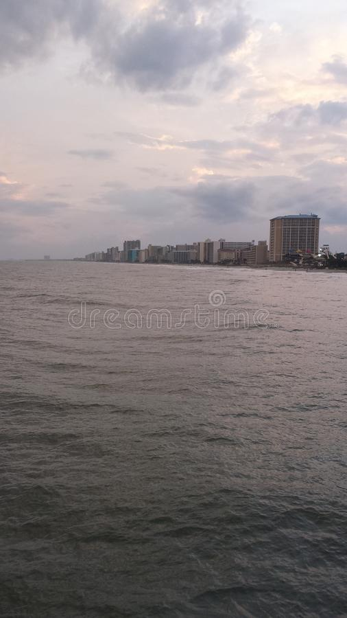 Calm ocean afternoon royalty free stock photo