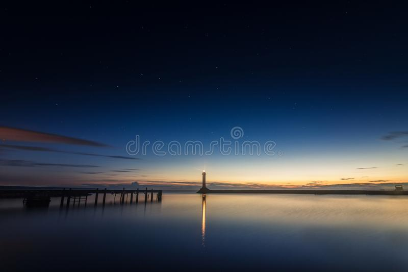 Calm Ocean Panoramic Photography royalty free stock photo