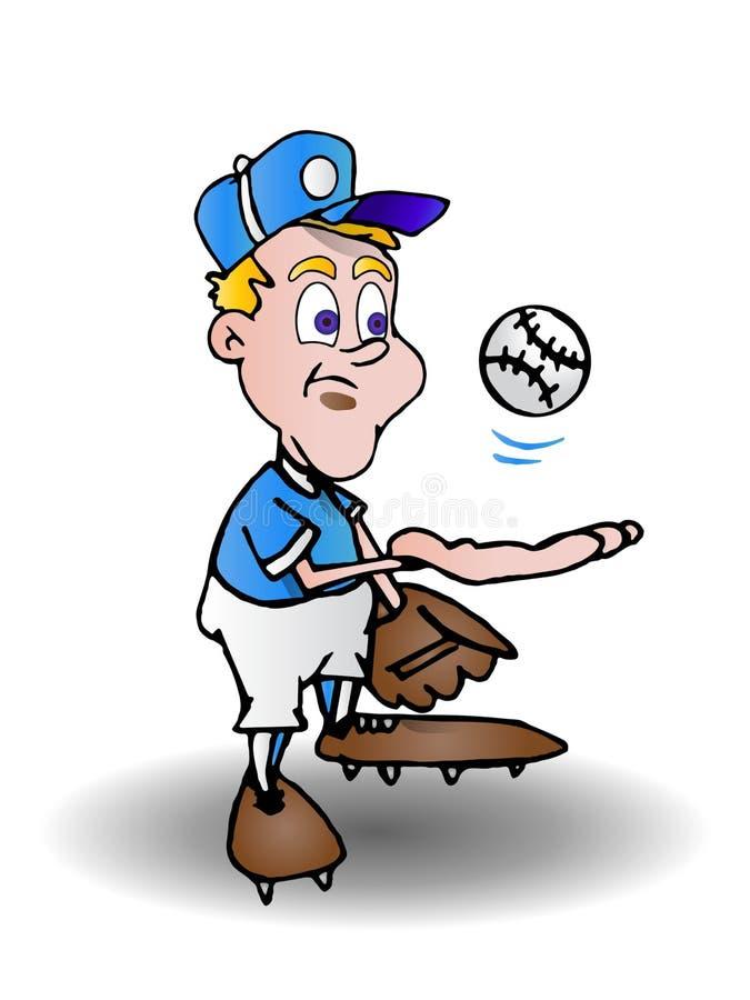 Download Calm pitcher stock illustration. Image of batter, uniform - 15365354