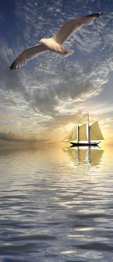 Download Calm sea stock illustration. Image of moonlight, idyllic - 19892631
