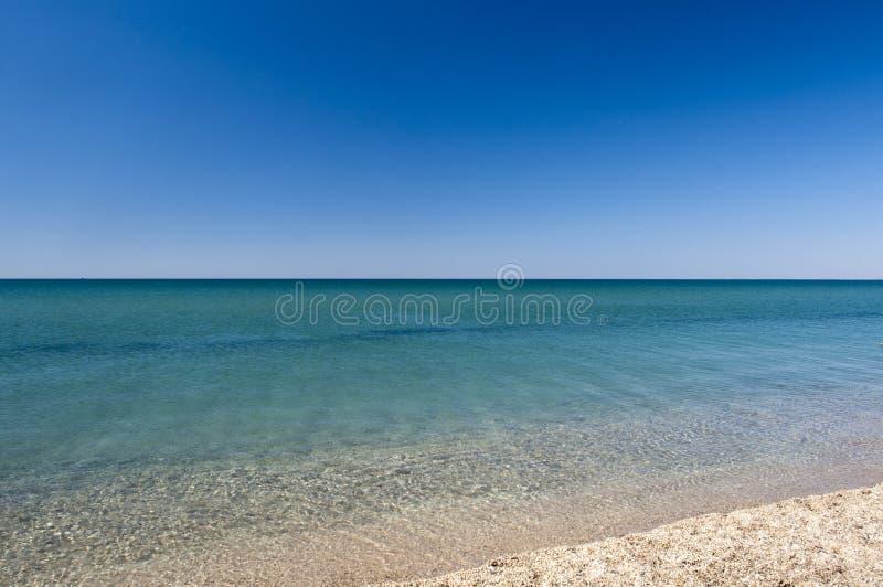 Calm sea. A beautiful seascape with calm sea stock image
