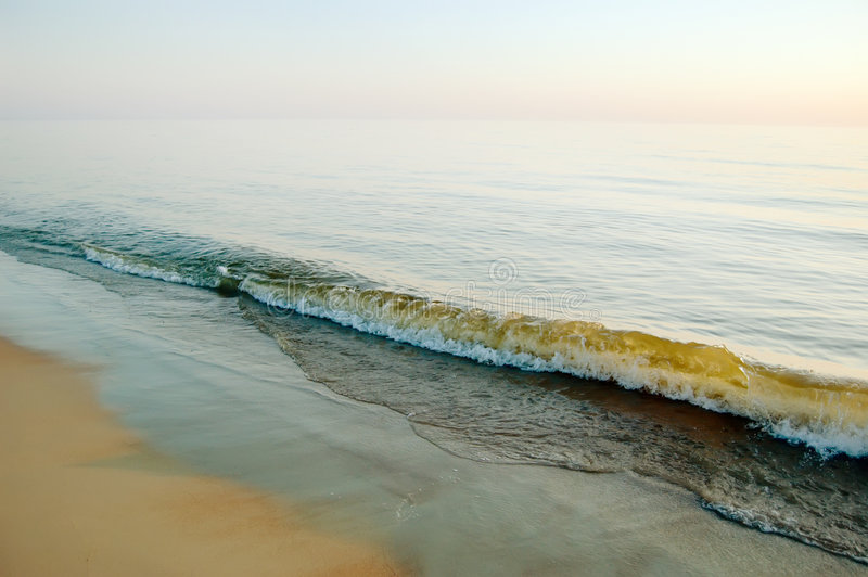 Download Calm Sea In The Evening, Clear Sky Stock Photo - Image: 7051570