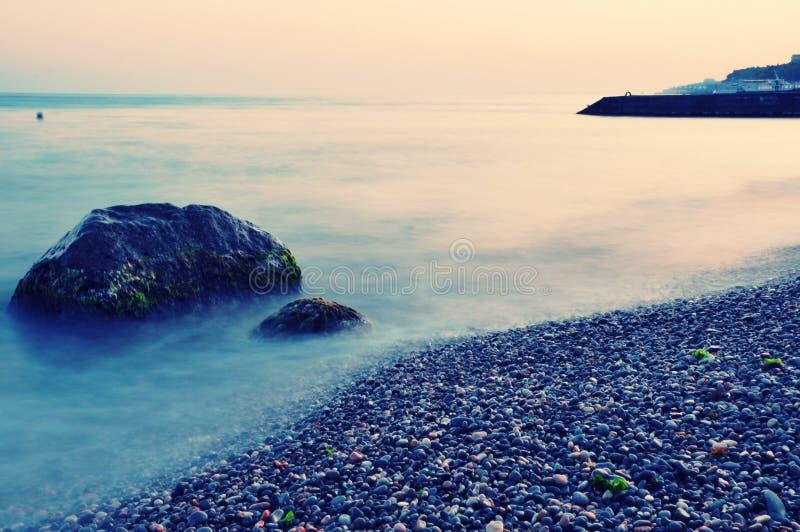 Calm sea morning royalty free stock photography