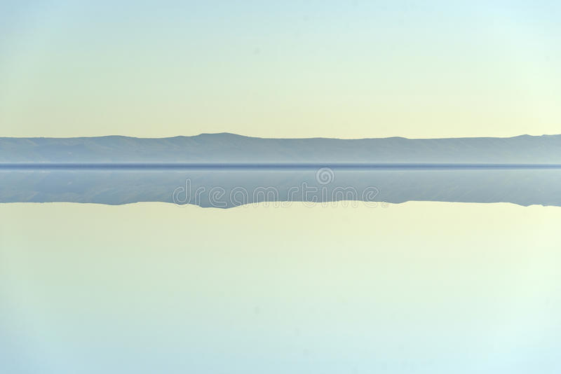 Calm on the sea. Seascape with a ridge on the horizon stock photography