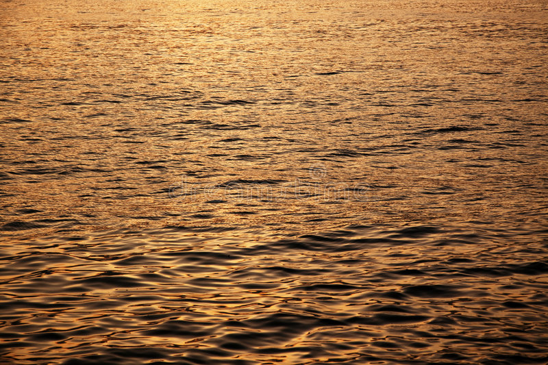 Calm Sea During Sunset Stock Photo