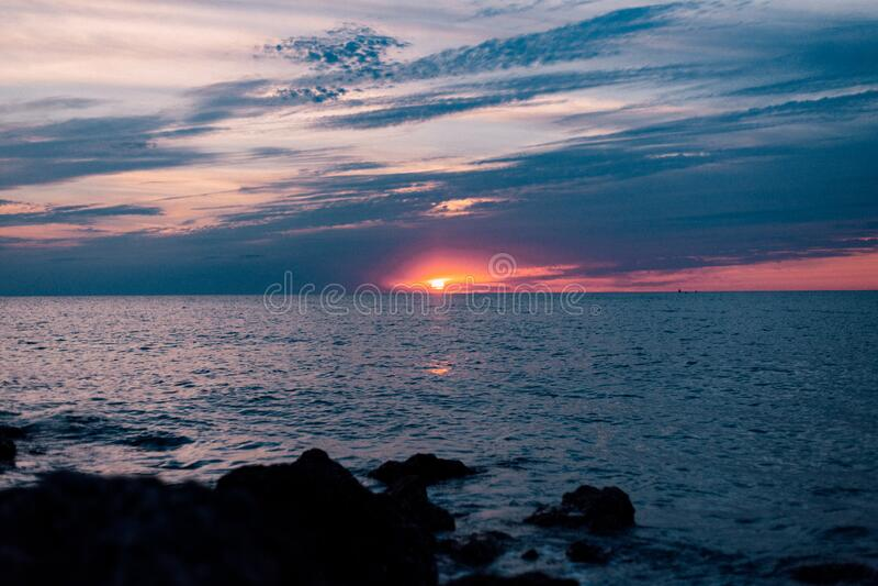 Calm Sea During Sunset Free Public Domain Cc0 Image