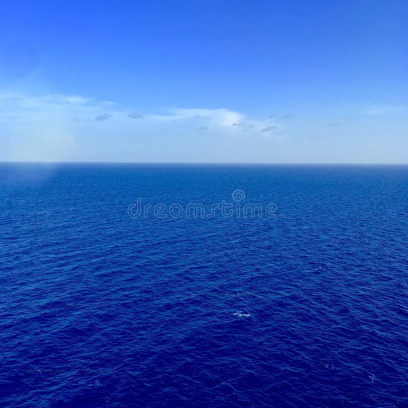 Sea view from cruise ship royalty free stock photos