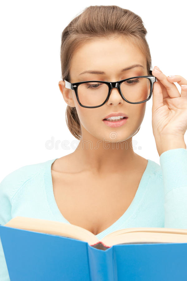 Download Calm And Serious Woman With Book Stock Photo - Image: 22013408