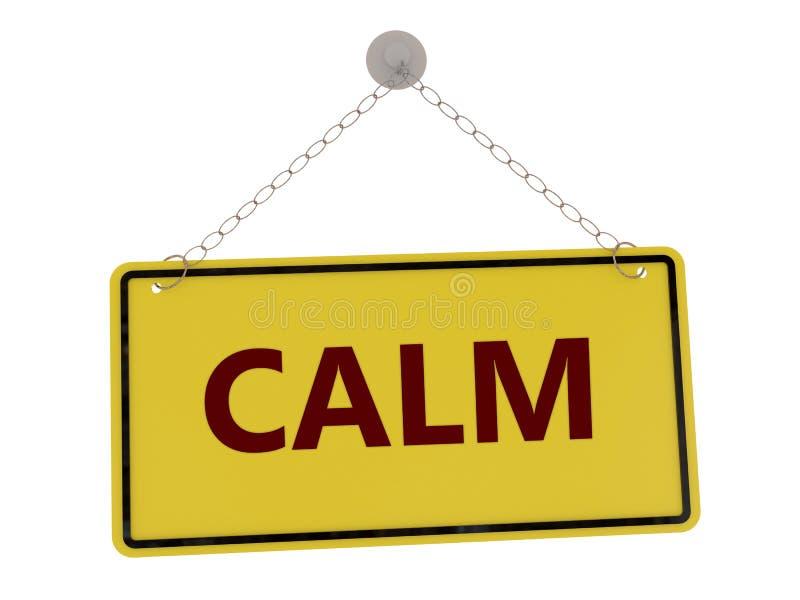 Calm sign vector illustration