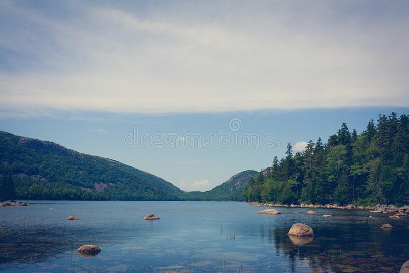 Calm still lake stock photos