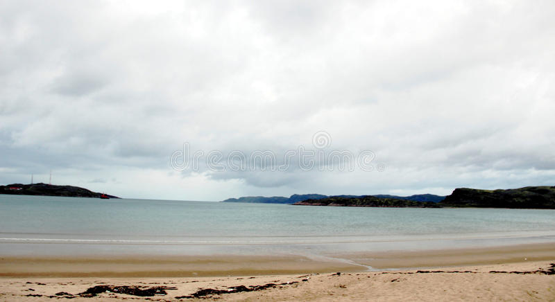 The calm before the storm, the Barents sea, the village of Teriberka Murmansk region Russia royalty free stock photo