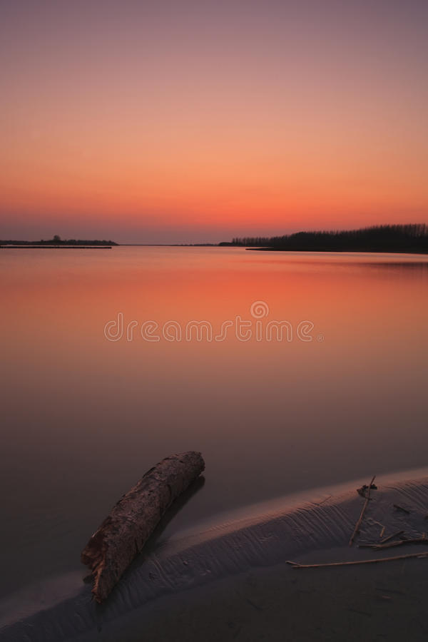 Calm Tranquil Sunset On The Beach Royalty Free Stock Photos
