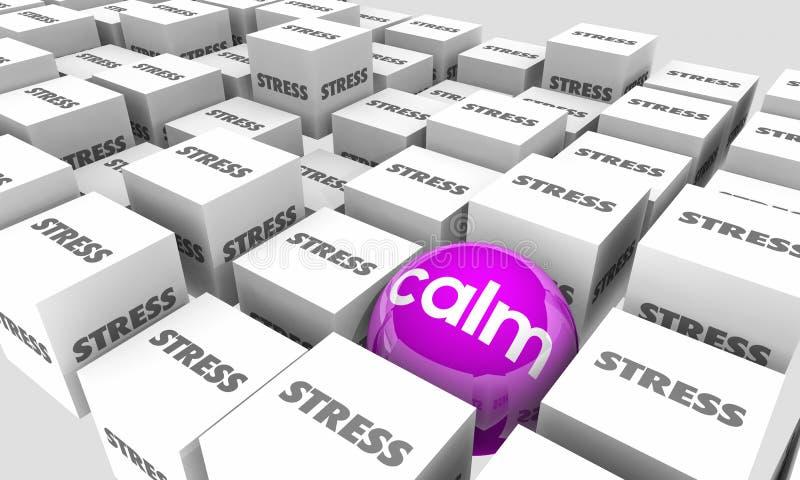 A calma contra o esforço relaxa toma o tempo da ruptura para fora para de sobrecarregar ilustração do vetor