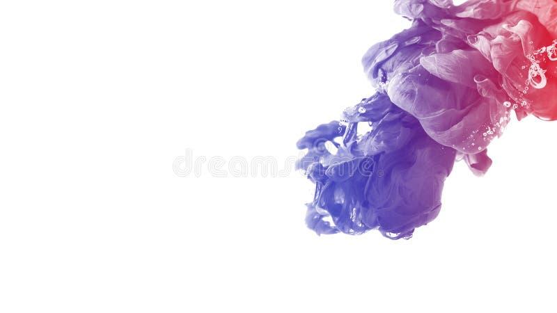 Calma creativa del movimiento del extracto del fondo del color de agua del descenso de la tinta libre illustration