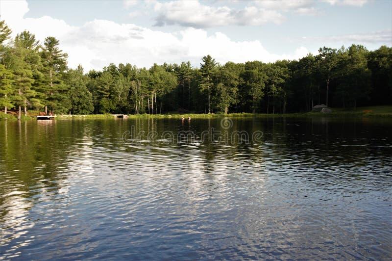 Calma sul lago fotografia stock