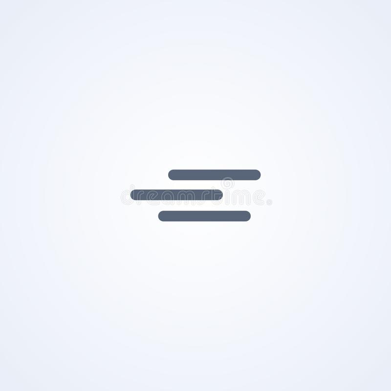 Calma, tranquilidad, la mejor línea icono del vector libre illustration