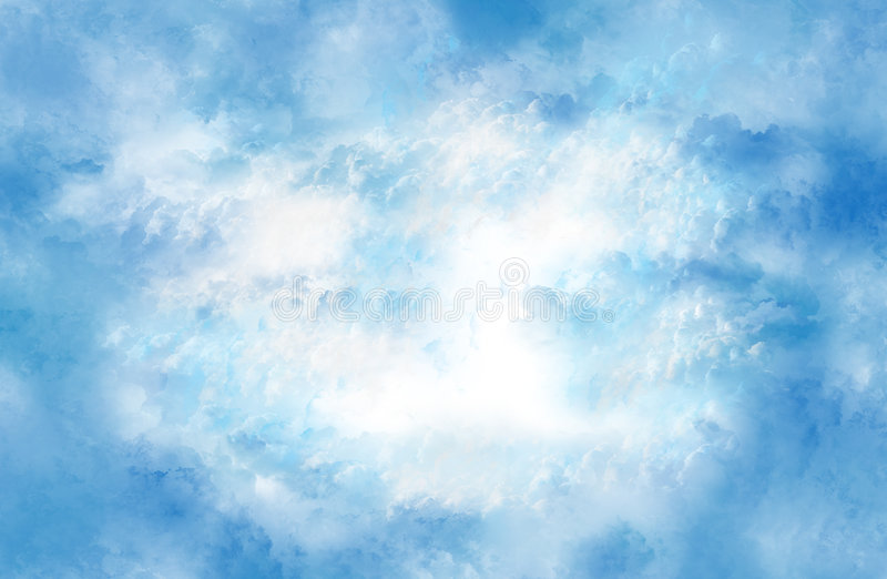 Calming clouds. royalty free stock image