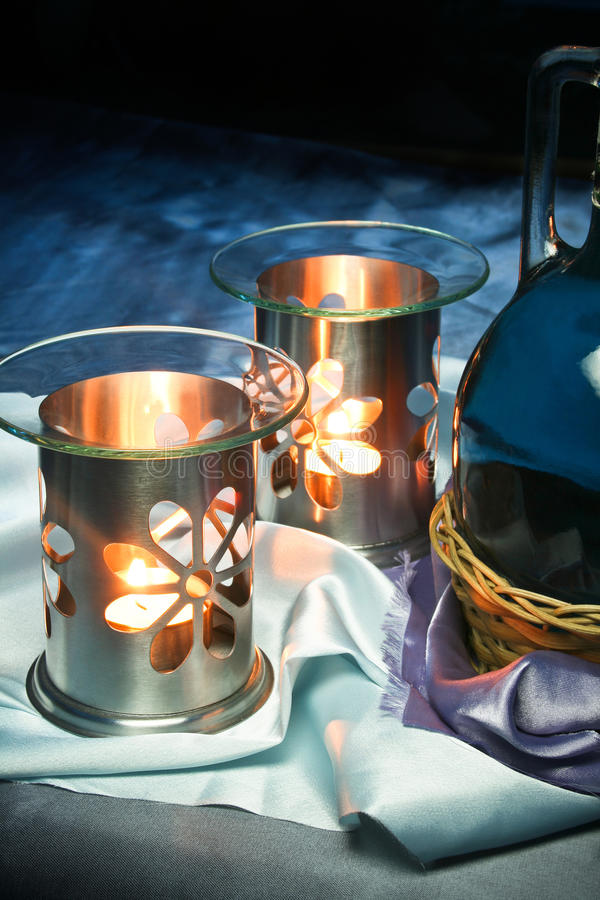 Calming Oil Burner stock photography
