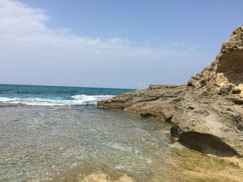 Calming sea stock image