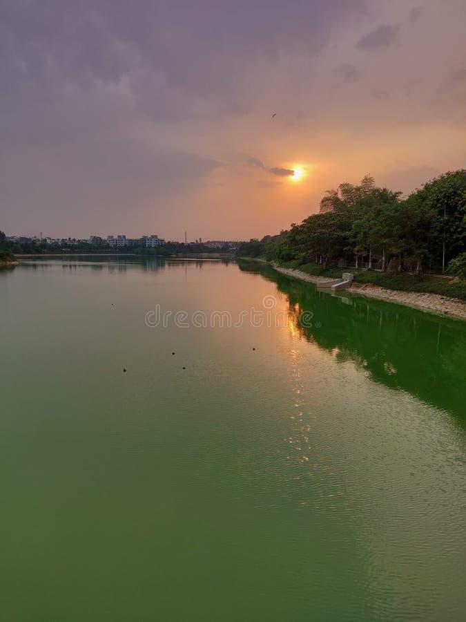 Calmness jezioro obrazy stock