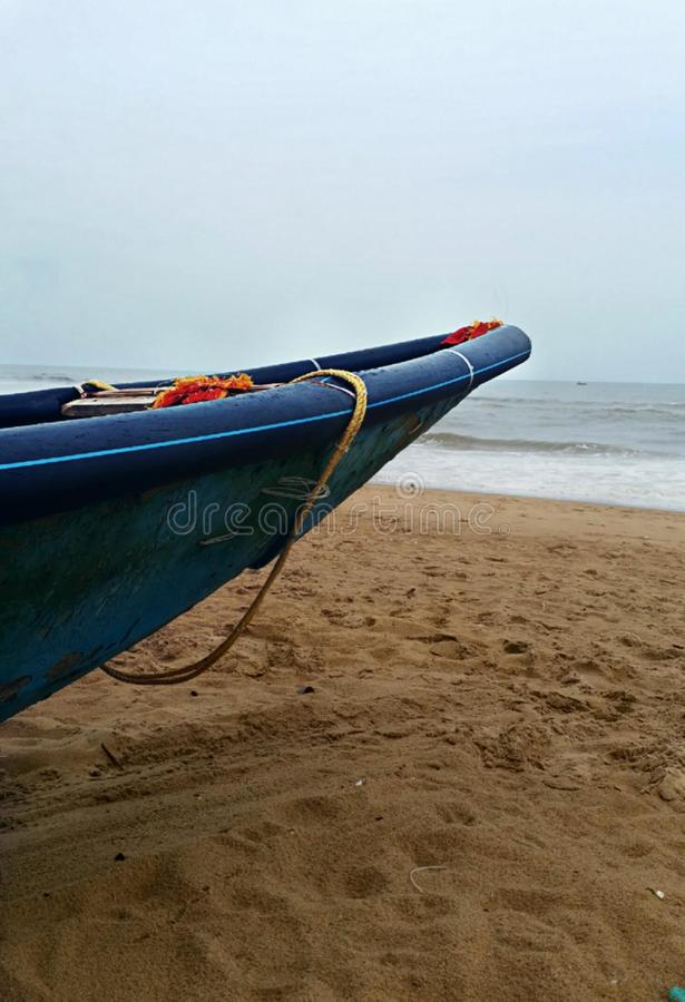 Calmness of the sea. Sea, sand, sky, bluewater, yatch royalty free stock image
