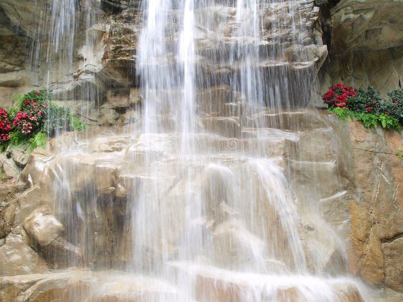 Calmness of Waterfall stock photos