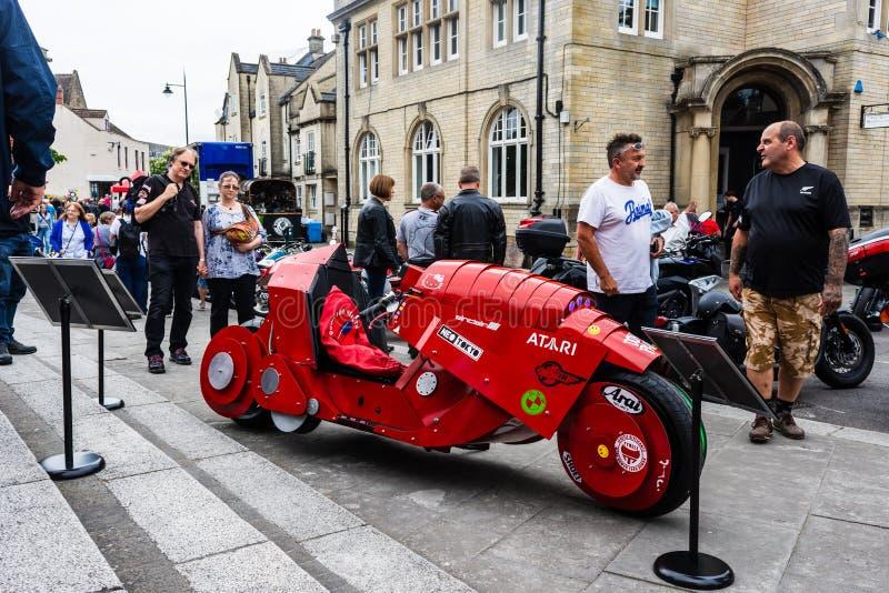 Calne, Wiltshire, Reino Unido, 27 de julio de 2019 Akira Mobility scooter por PodPad Studios, un concepto de construcción persona fotos de archivo