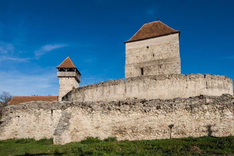 Calnic中世纪堡垒在Transylvania罗马尼亚 免版税库存图片