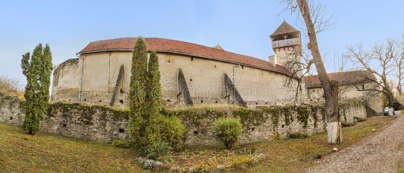 Calnic Średniowieczny forteca w Rumunia obrazy royalty free