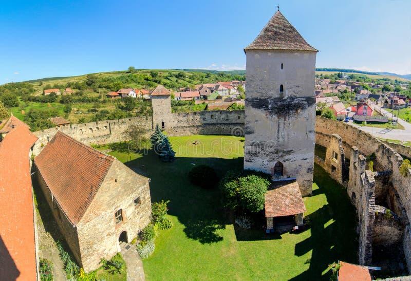 Calnicvesting, versterkte kerk, Alba provincie, Transsylvanië, Roemenië royalty-vrije stock fotografie