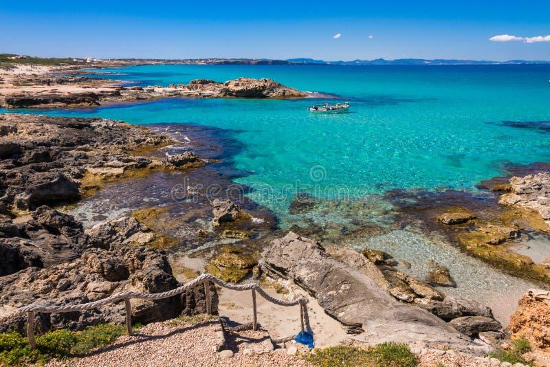 Calo De San Agustin, Formentera zdjęcie royalty free