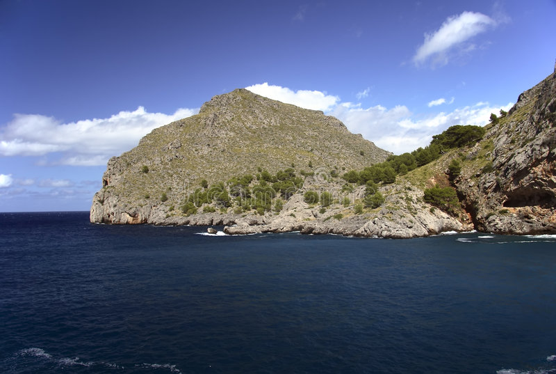Calobra escénico en Mallorca foto de archivo libre de regalías