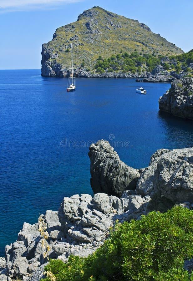 Calobra Majorca Sumy Fotografia Royalty Free