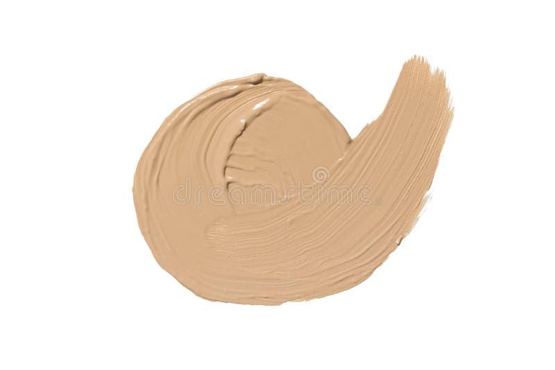 Calomnie de base pour le visage Tache de crème de cc ou de crème de BB Composez le produit images libres de droits