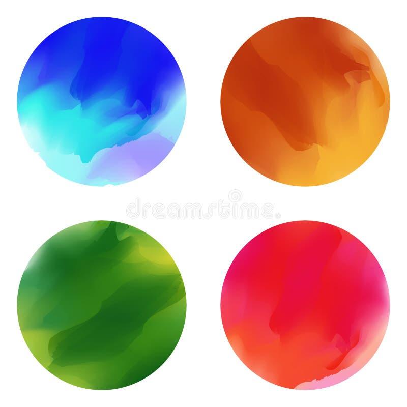 Calomnies colorées de tache de pinceau Vecteur illustration stock