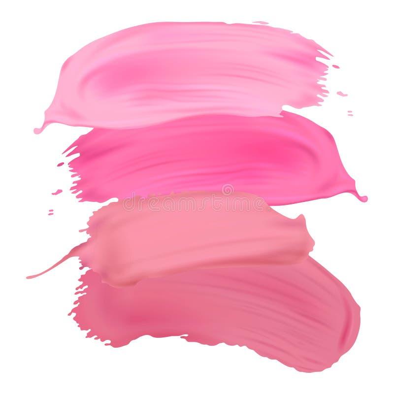 Calomnies de rouge à lèvres d'isolement sur le fond blanc illustration stock