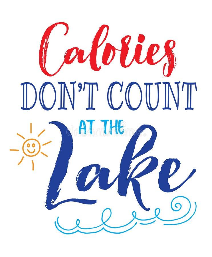 Calorías de Don de cuenta del ` t en el lago stock de ilustración