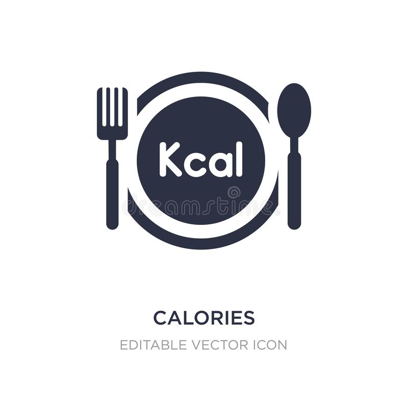 calorías de icono en el fondo blanco Ejemplo simple del elemento del concepto de la comida libre illustration