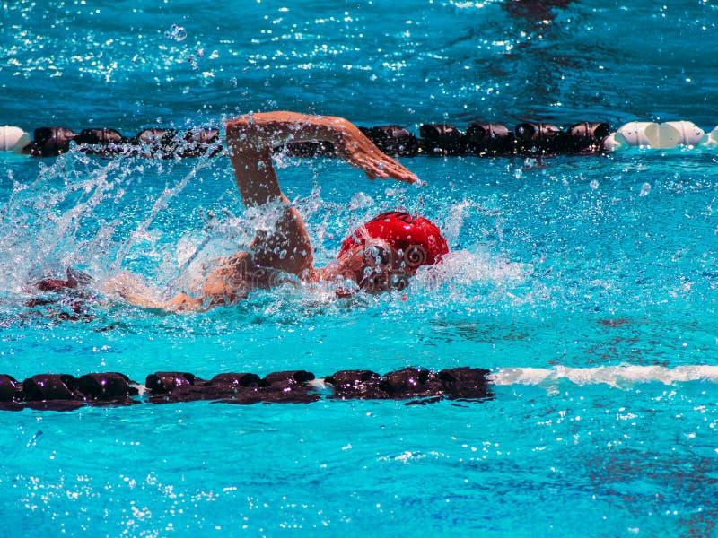 Download Calor Da Nadada Do Estilo Livre Foto de Stock - Imagem de swimmer, nadada: 31715400