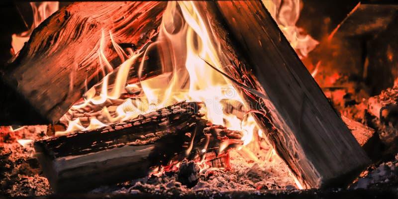 Calor de un fuego foto de archivo