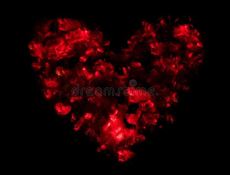 Calor y amor para el día del ` s de la tarjeta del día de San Valentín bajo la forma de corazón hecho fotografía de archivo libre de regalías